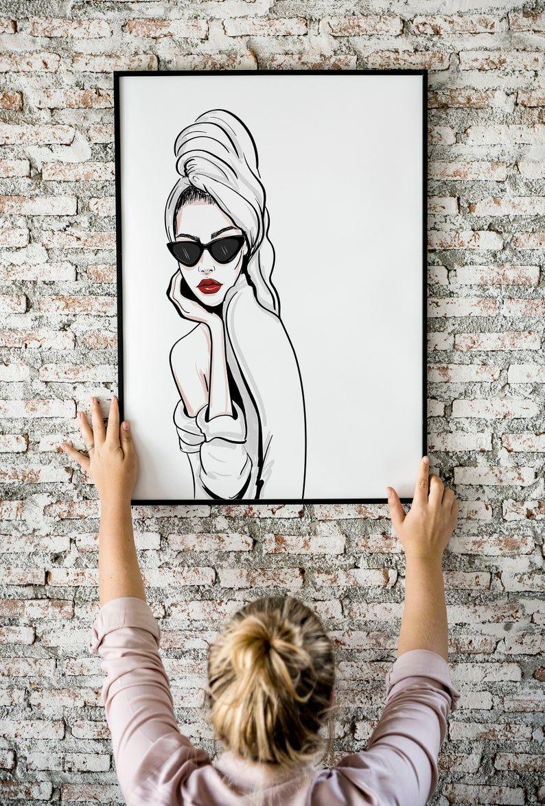 Fashion Wall Art Modern Home Decor Black And White Wall Art Fashion Poster Vogue Art Minimalist Art Woman Wall Art Fashion Room Decor In 2020 Fashion Wall Art Black And White