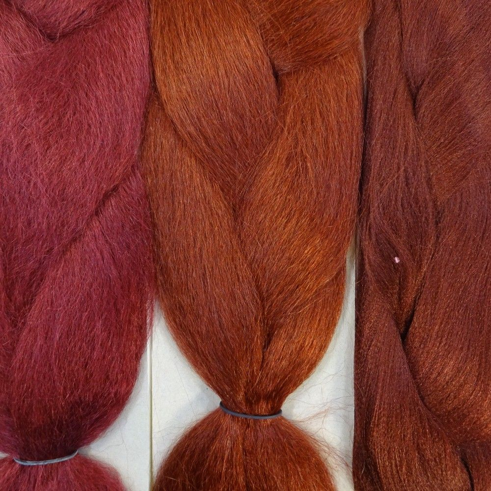 Kanekalon color comparison from left to right burgundy 350 kanekalon color comparison from left to right burgundy 350 rusty red 35 nvjuhfo Image collections