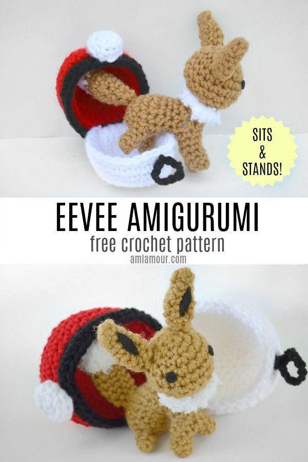 Eevee Amigurumi Crochet Pattern - Free - Ami Amour