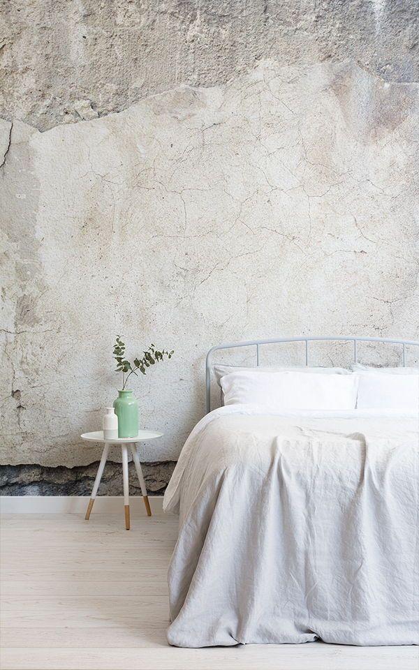 Mural de pared Hormigón agrietado Murales de papel tapiz - tapices modernos