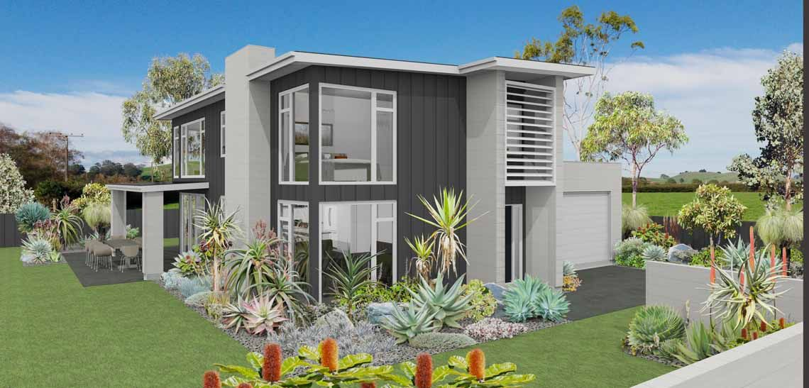 leigh 3 bedroom 2 storey house design landmark homes builders nz