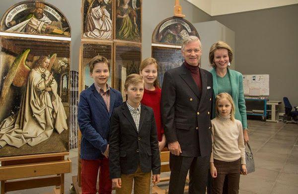 Royal Family of Belgium visited Ghent Fine Arts Museum. Jan. 19, 2016