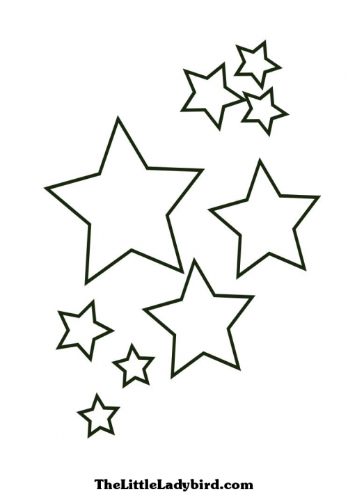little star coloring pages bazaar crafts kid stars stencils religion apply templates