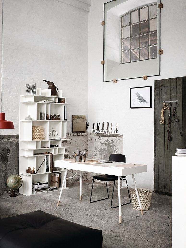 27 Ingenious Industrial Home Offices with Modern Flair | Rustic ...