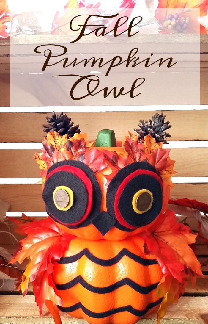 DIY Fall Pumpkin Owl