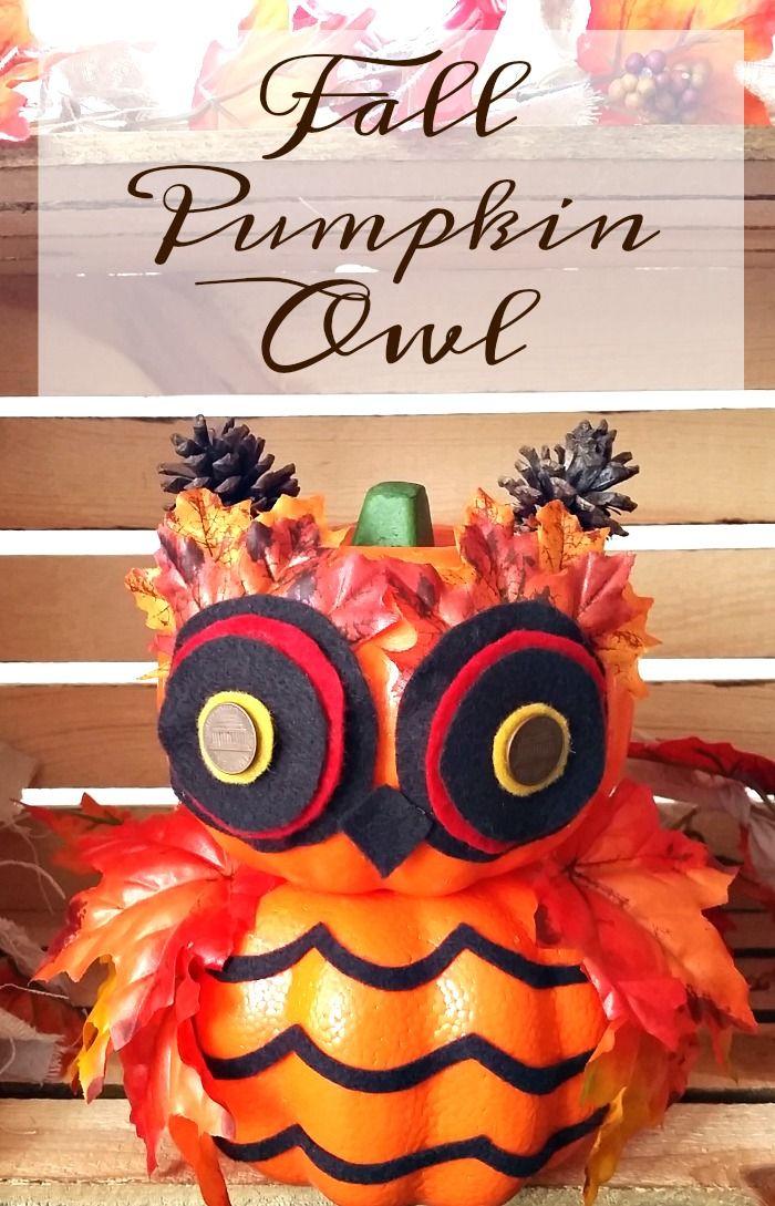 DIY Fall Pumpkin Owl