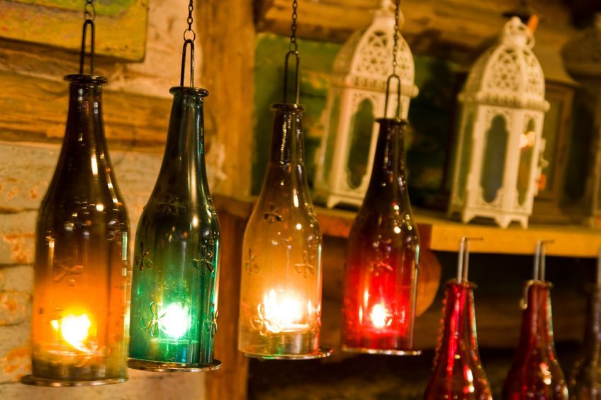Lighted Glass Diwali Lighting And Decorating Ideas Zansaar Blog Light Through Glass