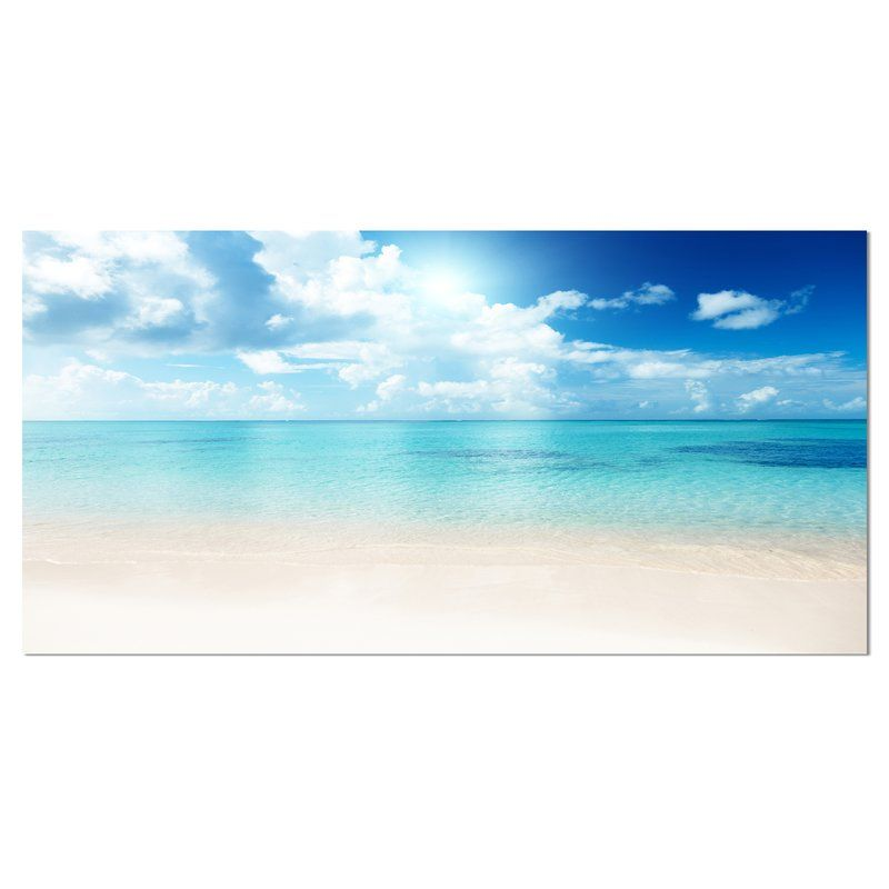 Highland Dunes Sand Of Beach In Blue Caribbean Sea Photograph Reviews Wayfair Seascape Canvas Ocean Wall Art Canvas Artwork