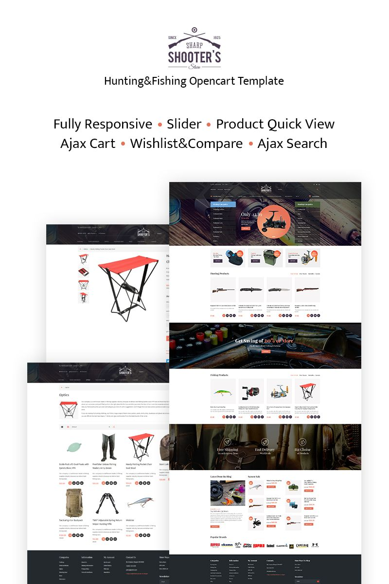 Shooter's - Fishing Responsive OpenCart Template #66303