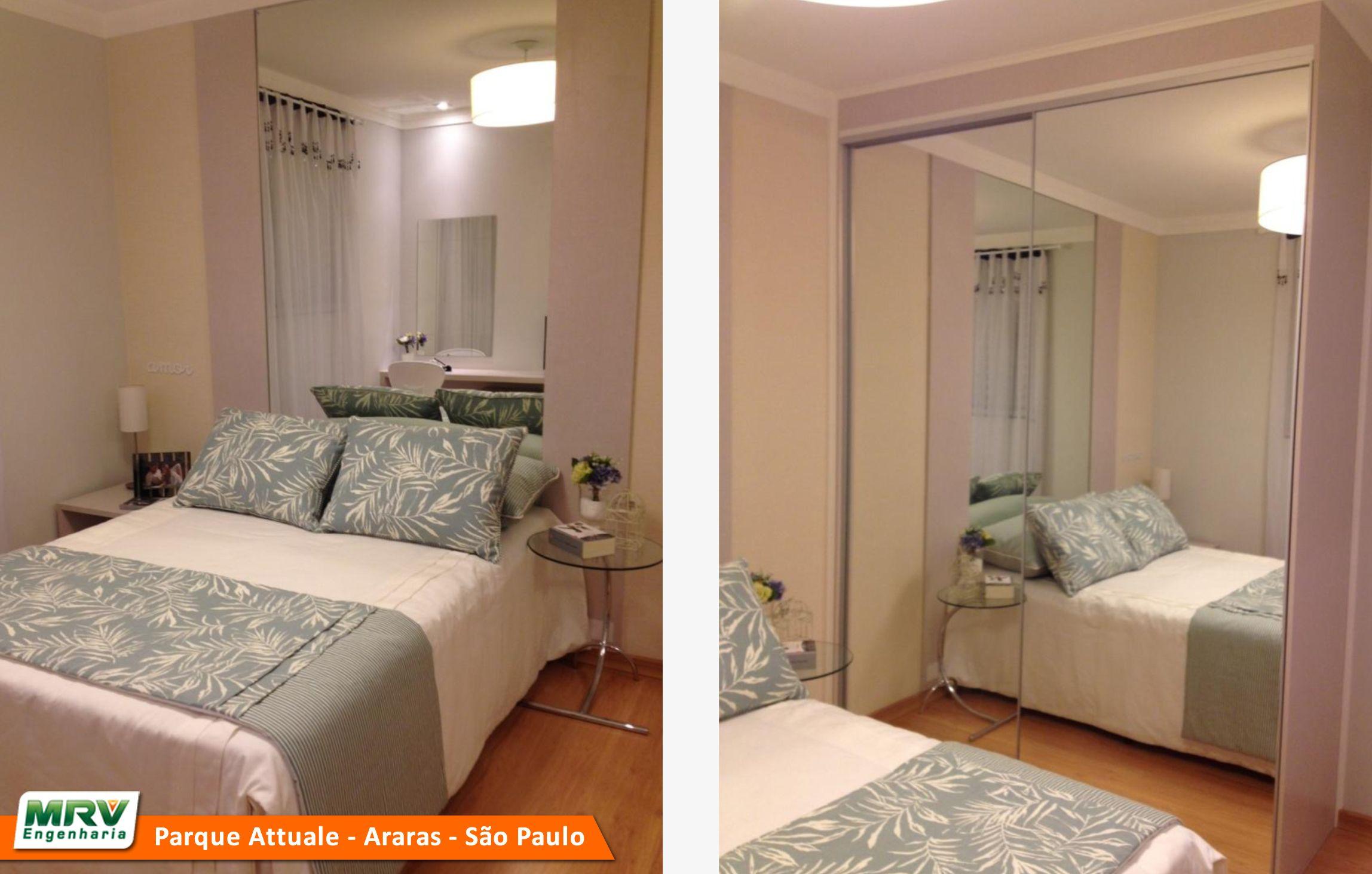 Apartamento Decorado 2 Quartos Do Parque Attualle No Bairro Jardim  ~ Quarto De Solteiro Planejado Para Apartamento Pequeno
