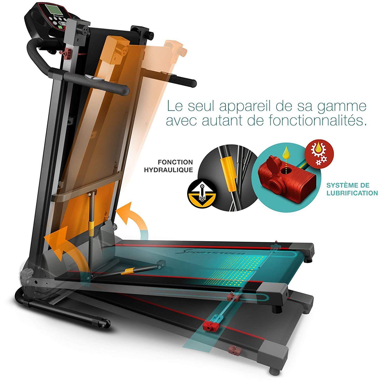 Sportstech Tapis De Course Electrique Pliable F10 Compatible Bluetooth Smartphones Avec Ceinture Cardio 1 Tapis De Course Course Electrique Sport Et Loisir