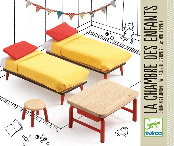 Djeco DJ07826 Poppenhuis meubels - Kinderslaapkamer   Cadeau ...