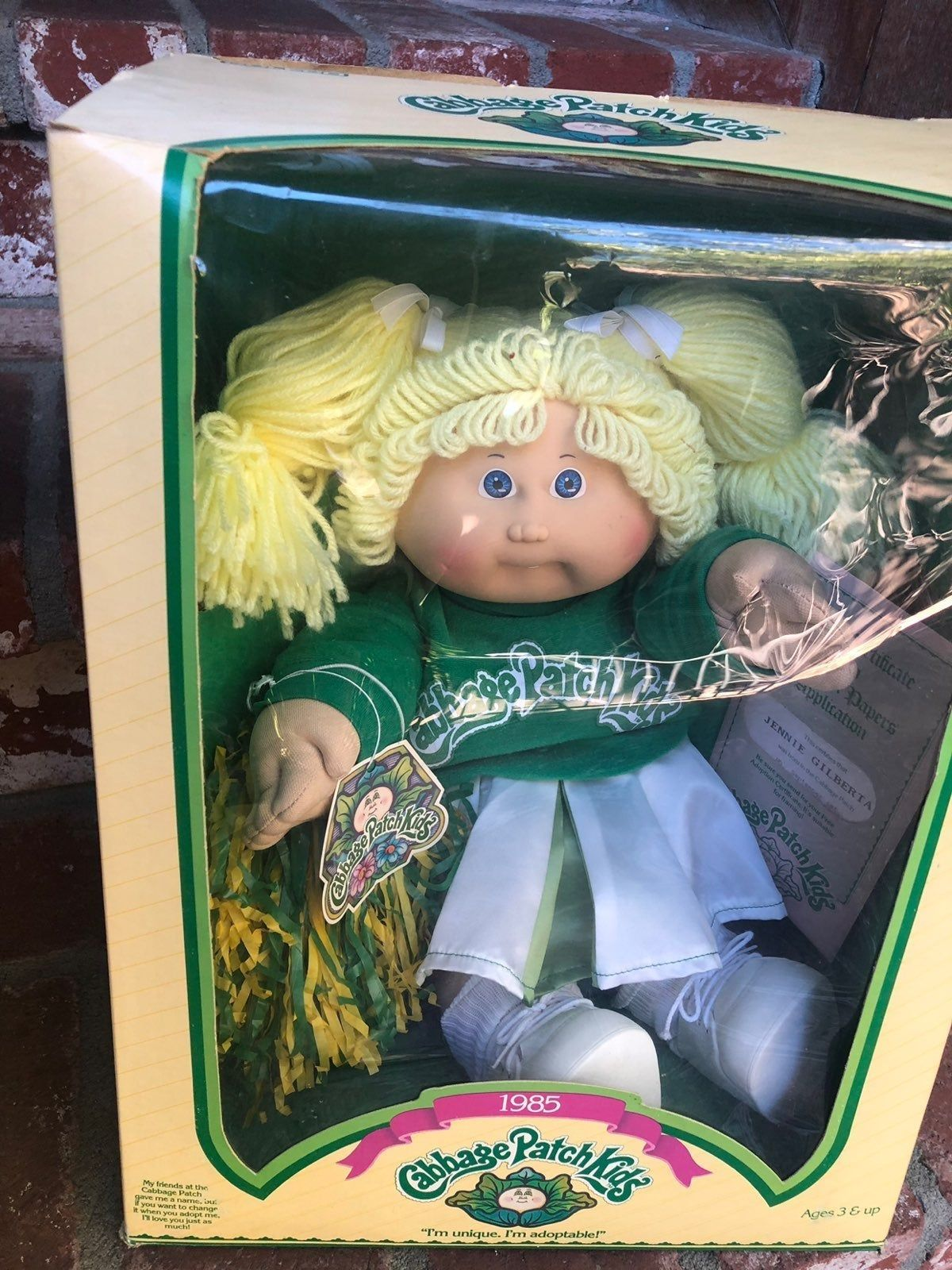 Vintage Adorable Cheerleader Cabbage Patch Doll In Its Original Box With Certificate It Vintage Cabbage Patch Dolls Cabbage Patch Dolls Cabbage Patch Babies