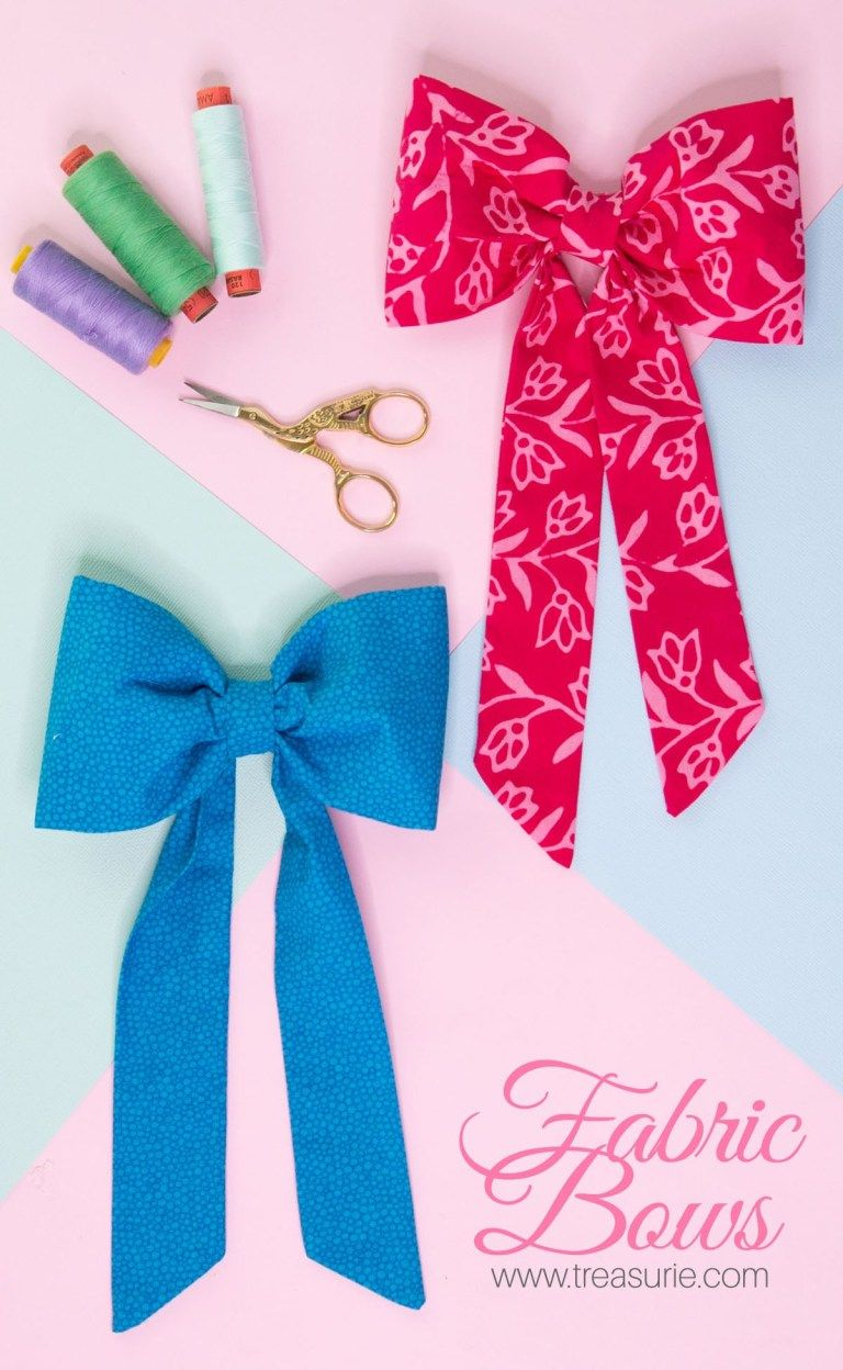 Large Fabric Bows - DIY for Clothing & Wreaths | TREASURIE
