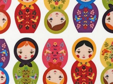 Little Kukla BPA Free Laminated Cotton Fabric Bright Employee Favorite!