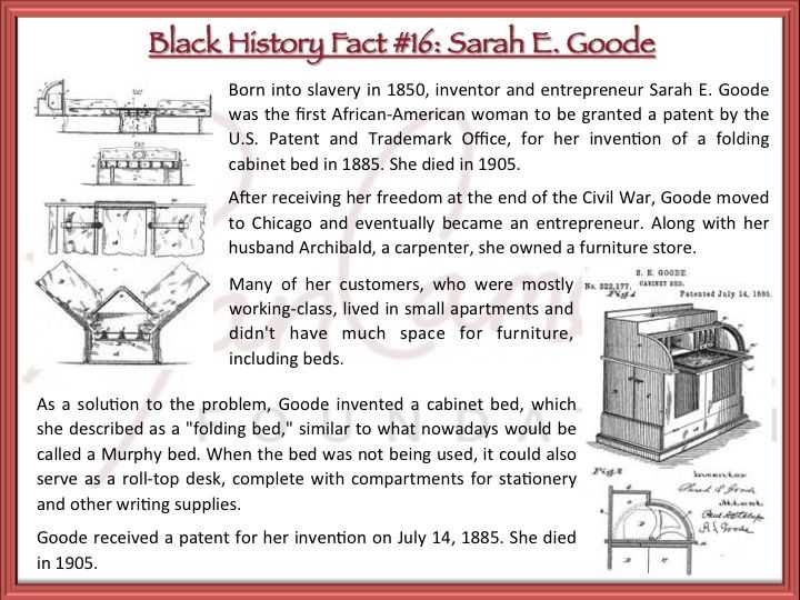 RCF Black History Fact #16: Sarah E. Goode was the first African ...