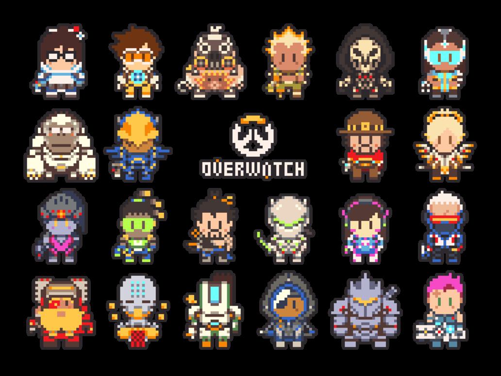 pixel art overwatch