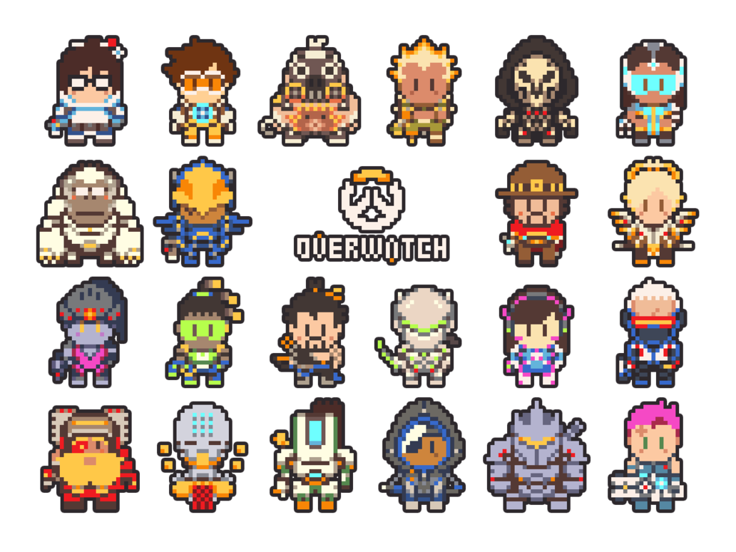 Overwatch Pixel Art By Gramoxon Perler Beads Pinterest