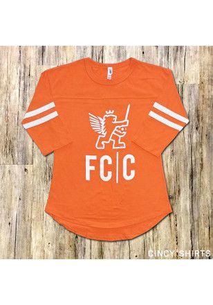 the best attitude a6057 01072 FC Cincinnati Womens Rally Jersey Orange T-Shirt | MLS - FC ...