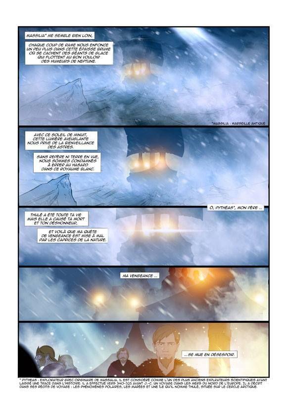 Planche colorée du projet de bande dessinée Atlas Odyssey sur igg.me/at/atlas-odyssey