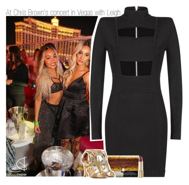 """""""At Chris Brown's concert in Vegas with Leigh"""" by liamismybabe ❤ liked on Polyvore featuring Balmain, Proenza Schouler, Rupert Sanderson, Dolce&Gabbana, littlemix and LeighAnnePinnock"""