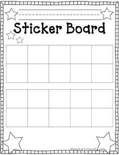 Fluttering through first grade stick to good behavior linky freebie frames sticker chart also weekly editable  free teaching classroom rh pinterest
