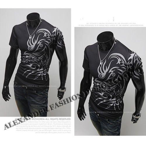 T Shirts FOR MEN Novelty Dragon Print Tatoo Male O Neck T Shirts M L XL XXL XXXL | eBay