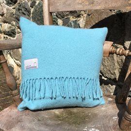 Welsh wool cushion - sky blue#adra #adrahome #welsh #wool #cushion #blue #homeware