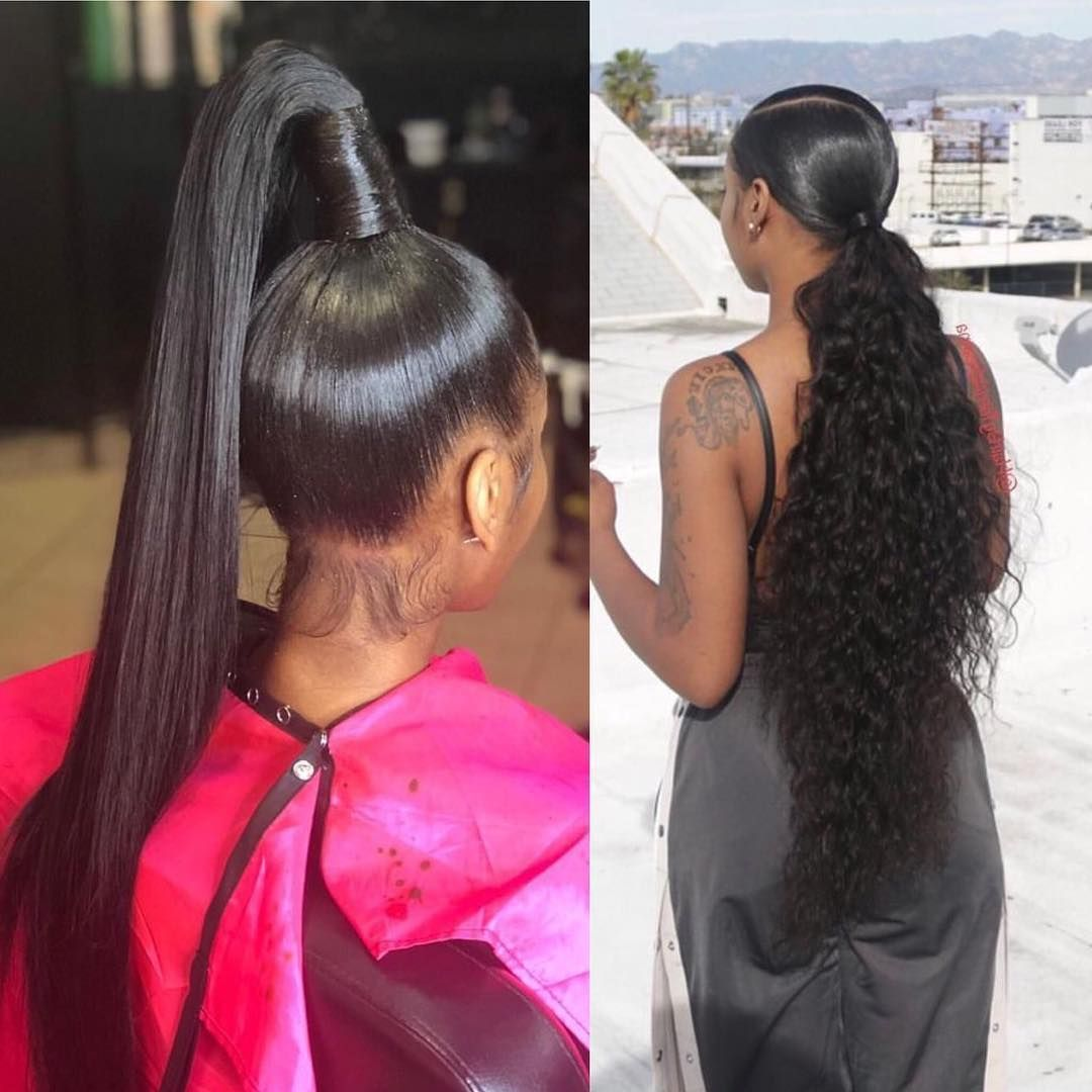 Hair Inspiration On Instagram Which Ponytail Left Or Right Dailydoseofhair Hairgoa Natural Hair Styles Natural Hair Stylists Weave Ponytail Hairstyles
