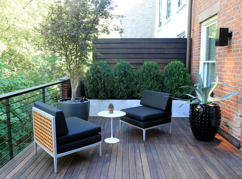 Brook Landscape On The Roof Backyard Balcony Garden 400 x 300