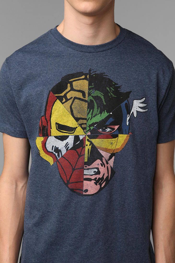 a4e969a8 Urban Outfitters - Marvel Faces Tee | Men's fashion | Marvel clothes ...