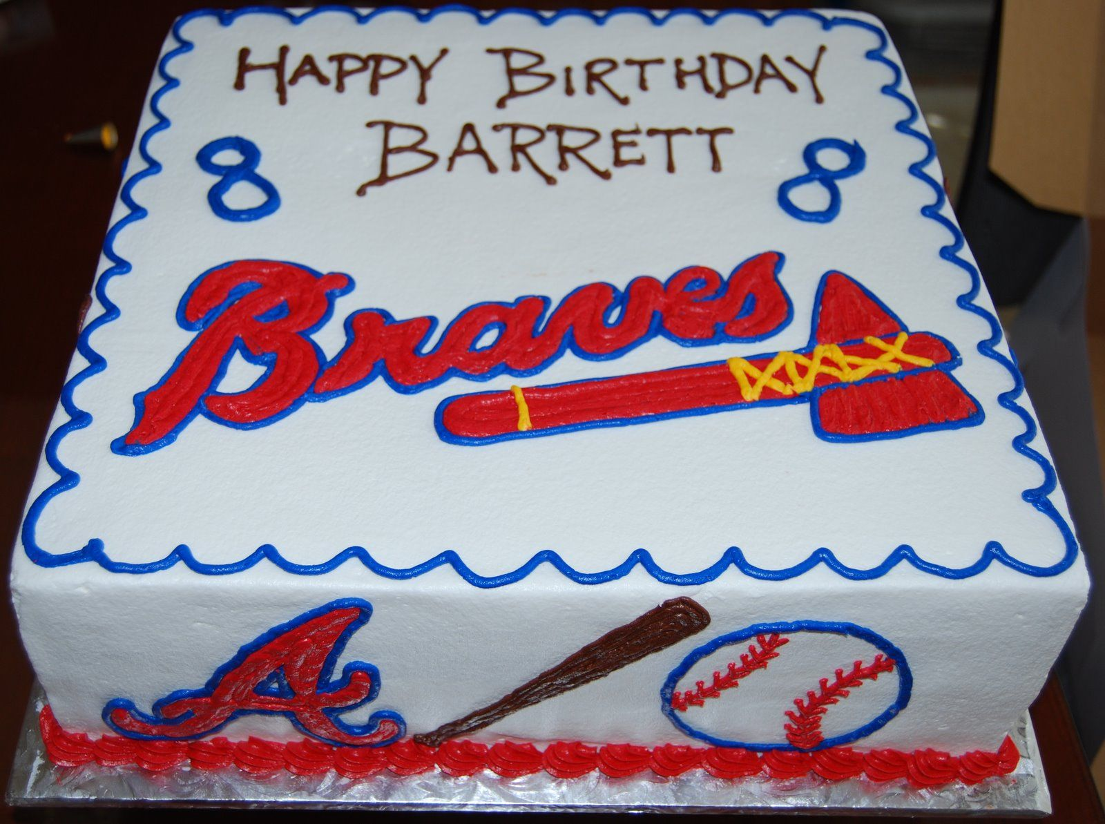 Tremendous Atlanta Braves Cake Google Search With Images Brave Cakes Personalised Birthday Cards Sponlily Jamesorg