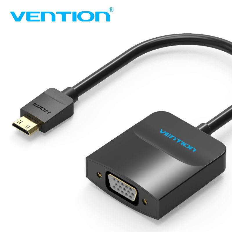Vention Mini Hdmi Adapter To Vga Converter Cable Gold Plated 1080p Male To Female Supply For Camera Dv Tablet Hdtv Hdmi Vga Hdtv