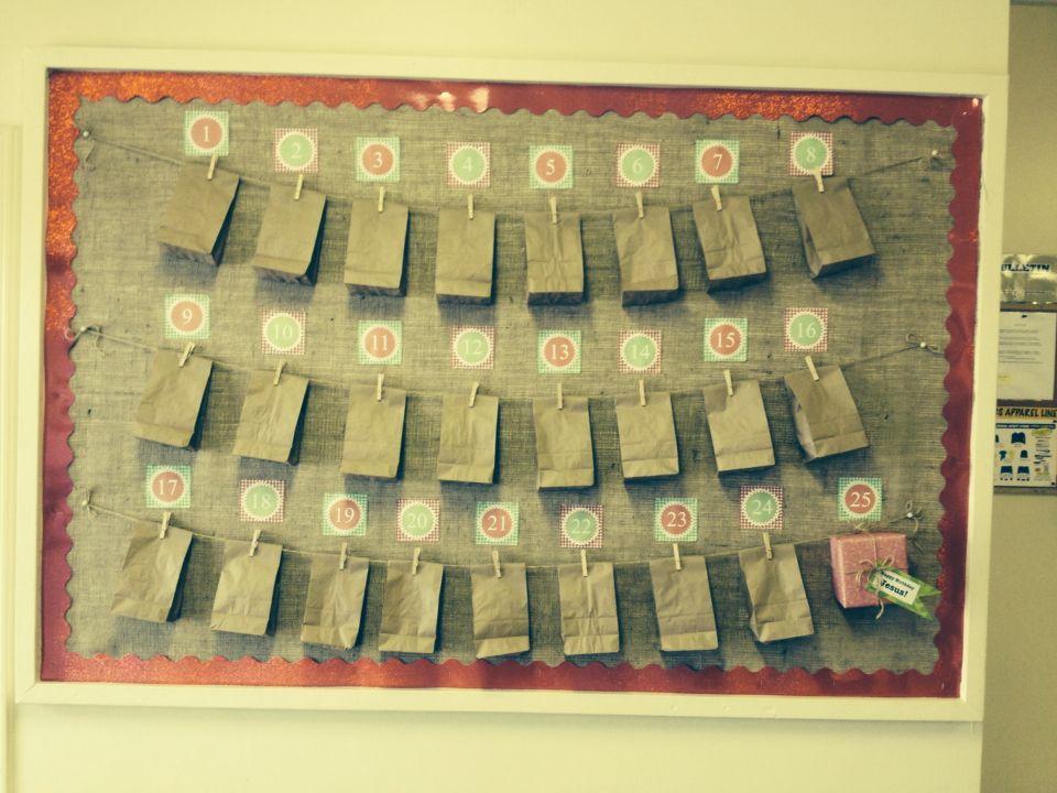 Advent pay it forward bulletin board bulletin boards