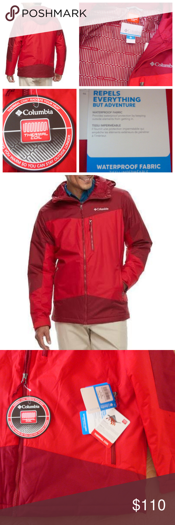 "New Mens Columbia /""Wister Slope/"" Insulated Thermal Coil Waterproof Winter Jacket"