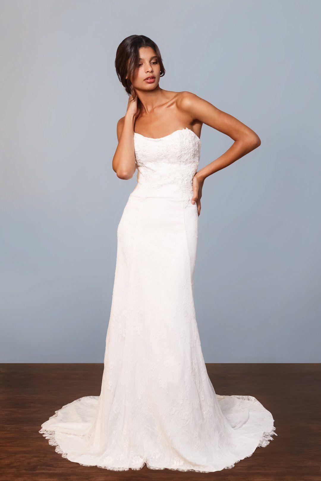 Celia Grace Fair Trade strapless wedding dress all lace | Conscious ...