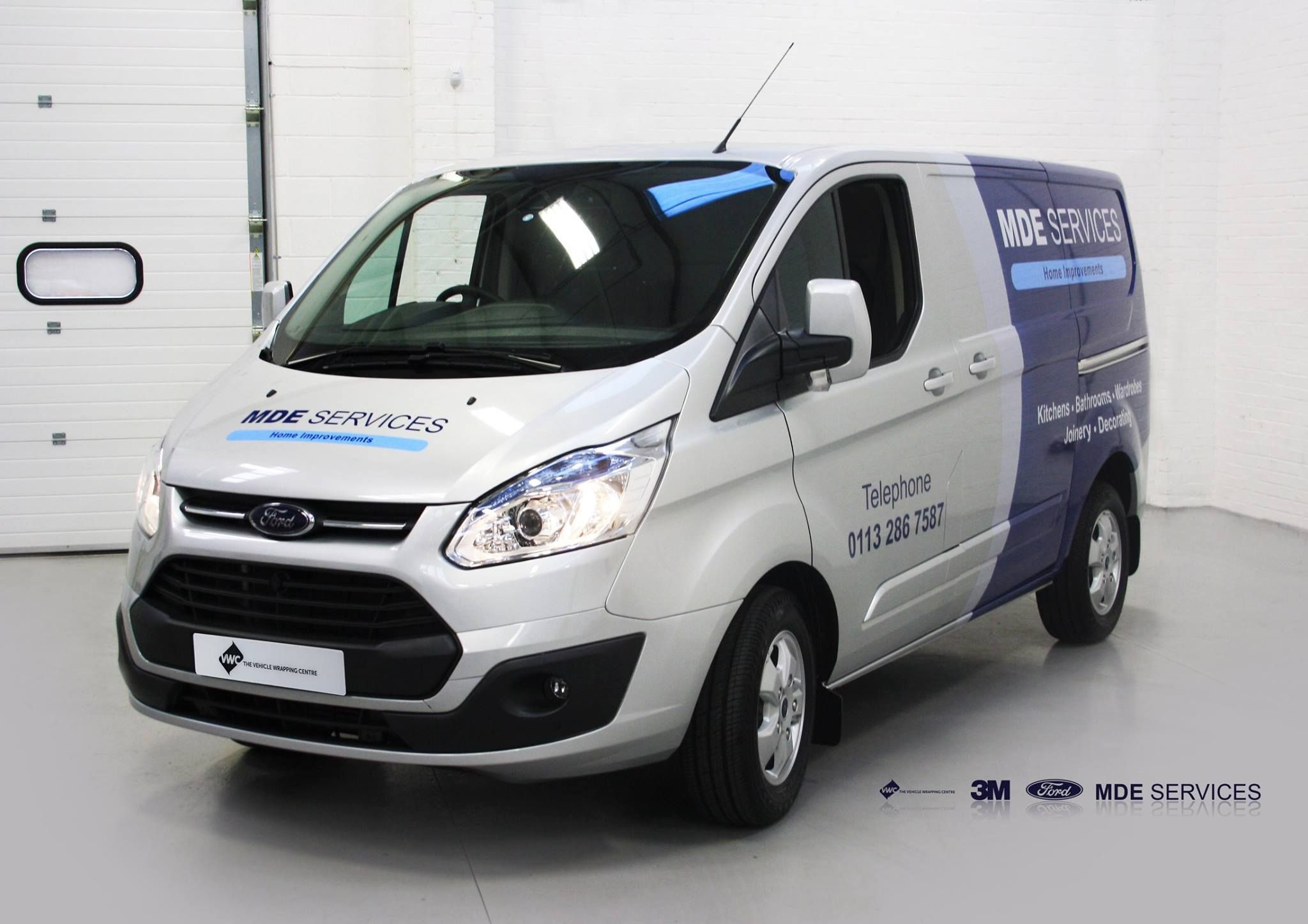 2dc36b86d7 MDE Services had this new Ford Transit Custom partly wrapped with added cut  graphics here with