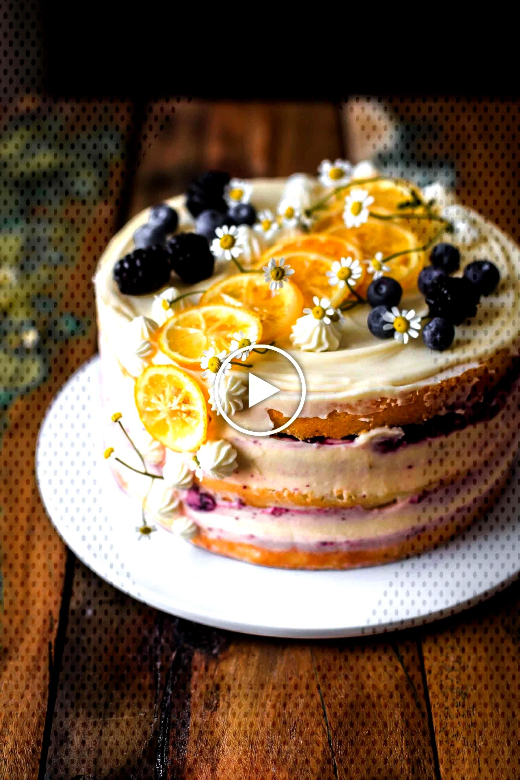 This super delicious Lemon Blueberry Cake is easy to make and comes with detailed step-by-step inst