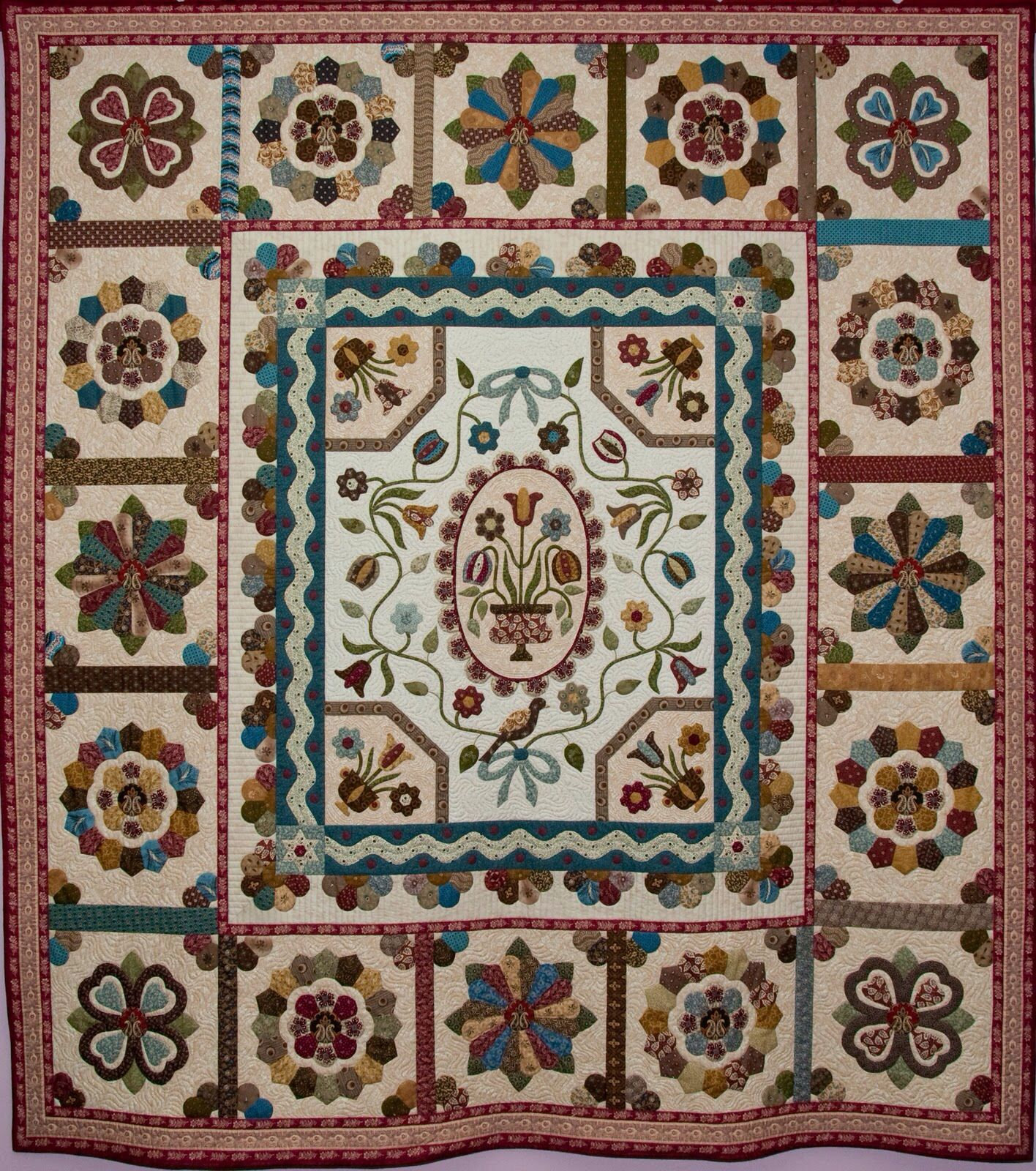 Pin by Berit W. Moe on Old quilts | Pinterest | Medallion quilt ... : australian quilts for sale - Adamdwight.com