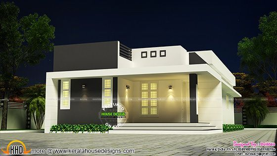 Elegant low cost house budget home modern plans also sq ft flat roof one floor design pinterest rh