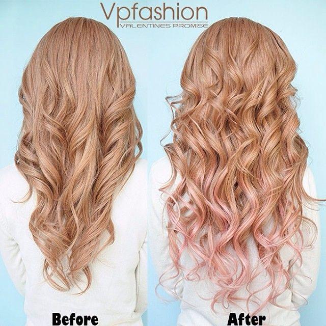 Spring Summer 2014 Hairstyles Inspirations Pink Dip Dye Hair