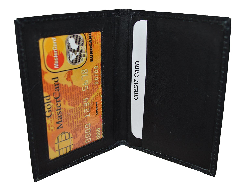 Slim Thin Leather Credit Card Id Mini Wallet Holder Bifold Driver\'s ...