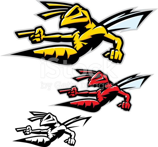 This Is An Illustration Of An Aggressive Wasp Or Hornet Great For