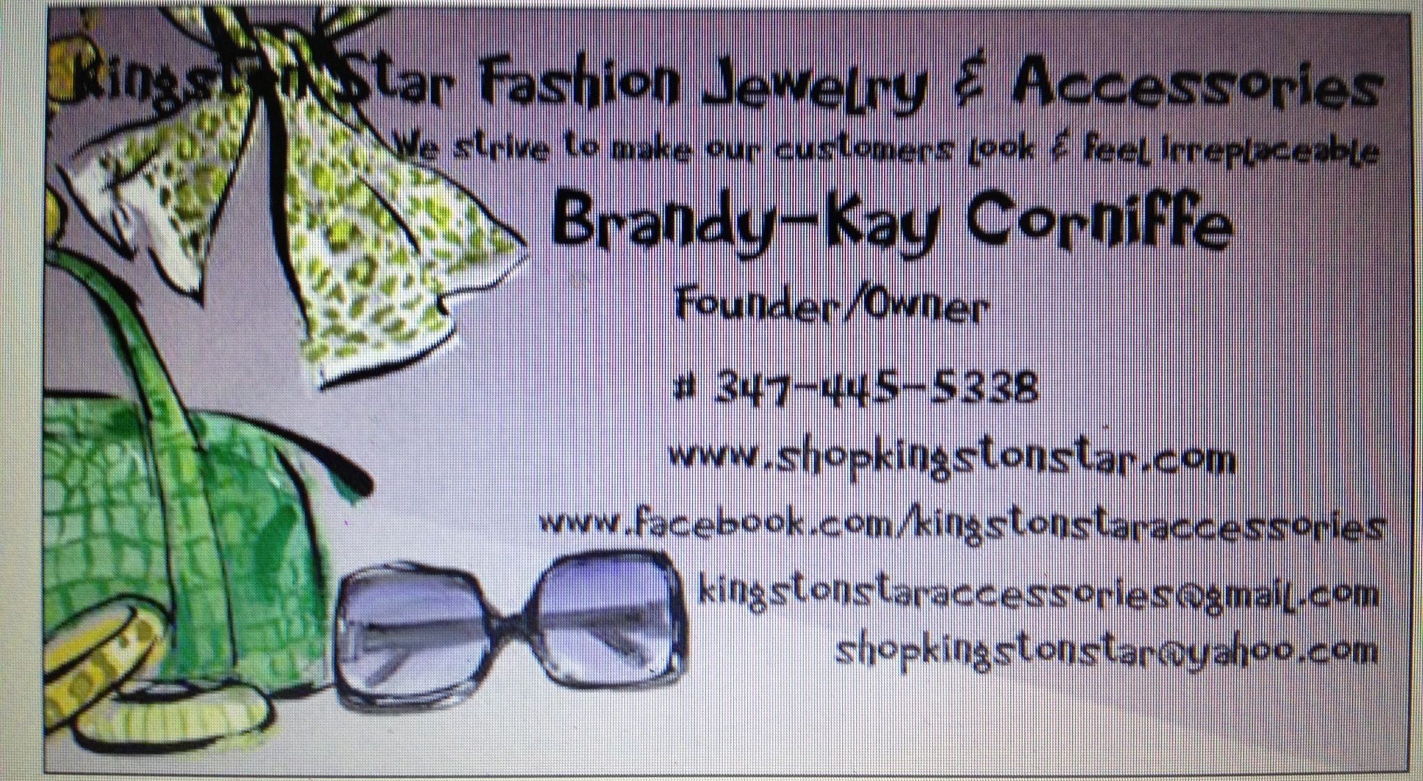 Kingston star business card | Fashion jewelry & accessories ...