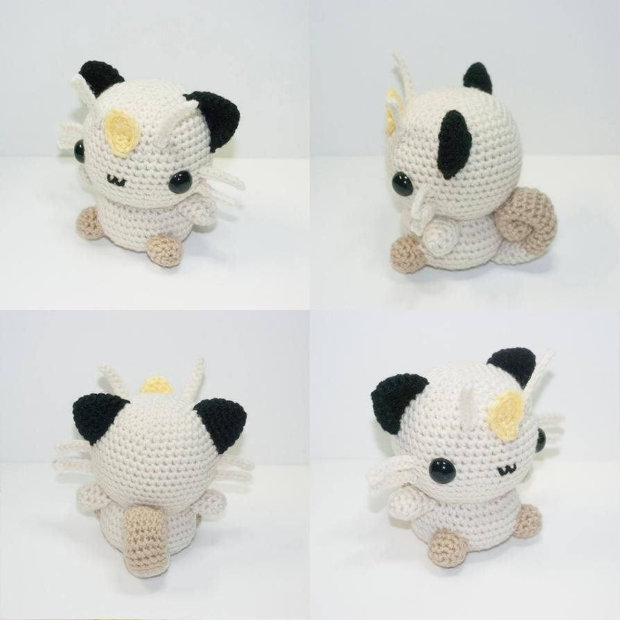 Meowth is now available and READY TO SHIP! Link to shop in profile ...