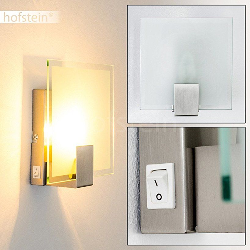 Wandleuchte Mit Schalter Wand Lampe Aus Glas Mit E14 Fassung
