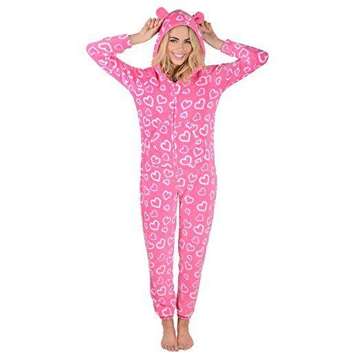 best website 1aab8 b3c8c Damen Fleece Einteiler Pyjama Schlafanzug Onesie PJ ...
