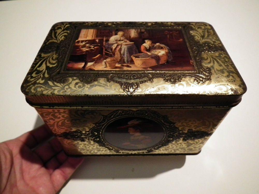 Rara scatola latta quadro  600 Rembrandt Gerard Dou Pieter de Hocch Frans Hals