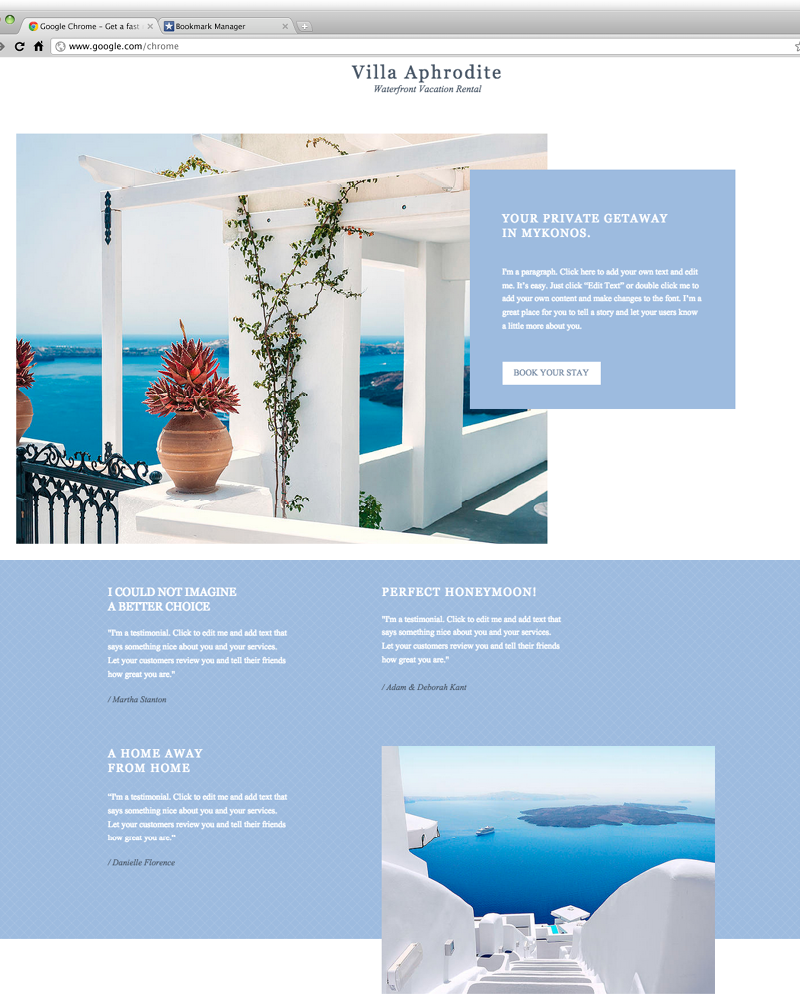 Rent Websites: Tropical Villa Rental