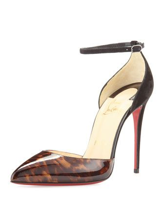 Uptown+d'Orsay+100mm+Red+Sole+Pump,+Testa+di+Moro+by+Christian+Louboutin+at+Neiman+Marcus.